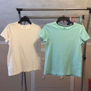 Lot of 2 Croft&Barrow T-Shirts Tops Polka dots